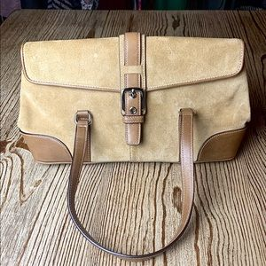 Coach Hamptons Collection Suede & Leather Satchel